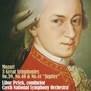 モーツァルト:三大交響曲集/リボル・ペシェック 指揮、チェコ・ナショナル交響楽団
