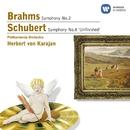 Brahms: Symphony No.2 & Schubert: Symphony No.8 'Unfinished'/Herbert von Karajan/Philharmonia Orchestra