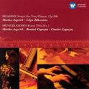 Brahms: Sonata for Two Pianos, Op.34b & Mendelssohn: Piano Trio No.1/Martha Argerich