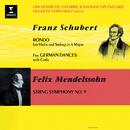 Schubert: Rondo for Violin and Strings, D. 438 & German Dances, D. 90 - Mendelssohn: String Symphony No. 9/Jean-François Paillard