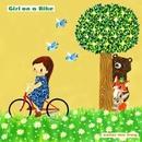 Girl on a Bike/color-me frog
