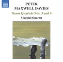 マックスウェル=デイヴィズ: ナクソス四重奏曲第3番/第4番/マッジーニ四重奏団
