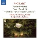モーツァルト: ヴァイオリン・ソナタ集 第5集 - K. 526/K. 547/ベンジャミン・ローブ(ピアノ)/西崎崇子(ヴァイオリン)