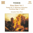 ウェーバー: ピアノソナタ第3番, ヴァリエーションズ Opp. 5, 7, 9/アレクサンドル・パレイ(ピアノ)