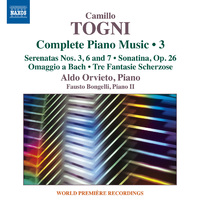 カミッロ・トーニ: ピアノ作品全集 第3集