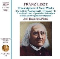 リスト: ピアノ曲全集 第44集 声楽曲トランスクリプション集