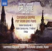 ゲオルギー・リヴォヴィチ・カトゥアール: ヴァイオリンとピアノのための作品全集