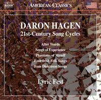 ダロン・ハーゲン: 言葉のあとで - 21世紀の歌曲集