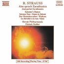 R. シュトラウス: 交響詩「ツァラトゥストラはかく語りき」/他/ズデニェク・コシュラー(指揮)/スロヴァキア・フィルハーモニー管弦楽団
