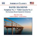 ダイアモンド: 交響曲第1番/ヴァイオリン協奏曲第2番/巨大な部屋/ジェラード・シュワルツ(指揮)/イルッカ・タルヴィ(ヴァイオリン)/シアトル交響楽団