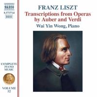 リスト: ピアノ曲全集 52 - オーベールとヴェルディのオペラ・トランスクリプション集
