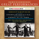 Shostakovich: Symphony No. 1 & Cello Concerto/Mstislav Rostropovich, The Philadelphia Orchestra, Eugene Ormandy
