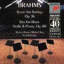Brahms: Sextet for Strings, Op. 36 & Horn Trio, Op. 40/Marlboro Recording Society