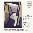 "Grieg: Piano Concerto; Szymanowski: Symphony No. 4 ""Symphonie concertante""/Adrian Leaper"