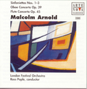 Arnold: Sinfoniettas 1,2,3/Ctos. For Flute & Strings And Oboe & Strings/Ross Pople