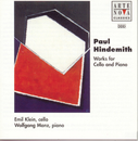 Hindemith: Sonatas Works For Cello And Piano/Emil Klein