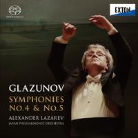 グラズノフ:交響曲第 4番 & 第 5番/アレクサンドル・ラザレフ/日本フィルハーモニー交響楽団